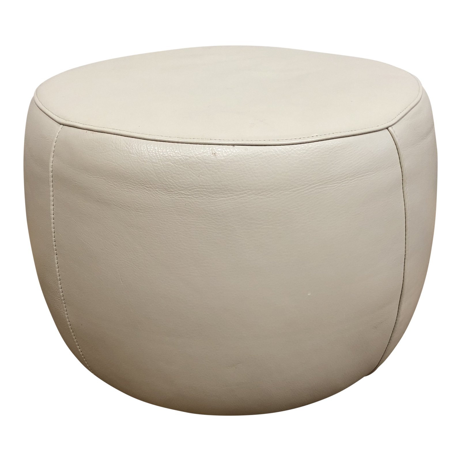 Room & Board Lind Round Leather Ottoman. Original Price: $4
