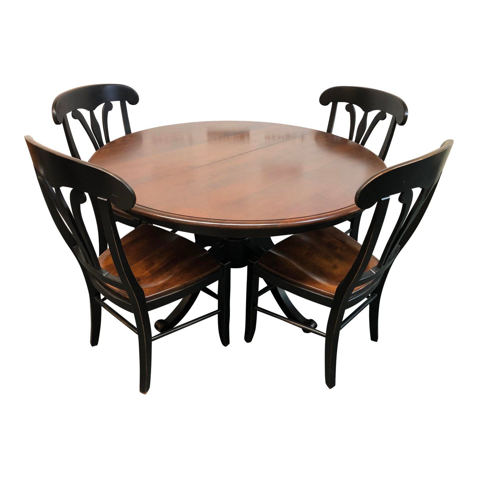 Stockbridge Pedestal Dining Table 4 Country Manor Chairs By Nichols Stone Original Price 500