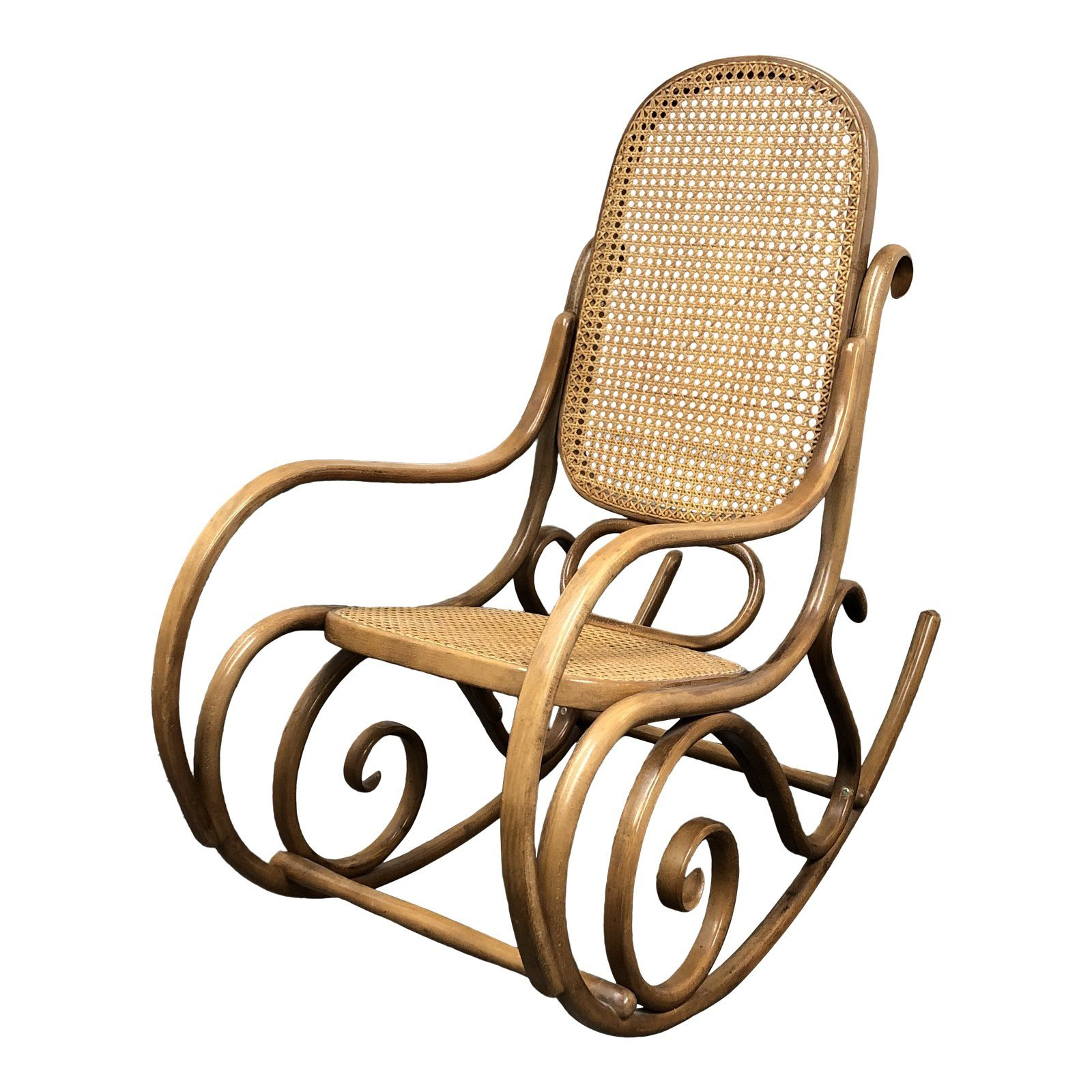 Thonet No 10 Bentwood Cane Rocking Chair Design Plus