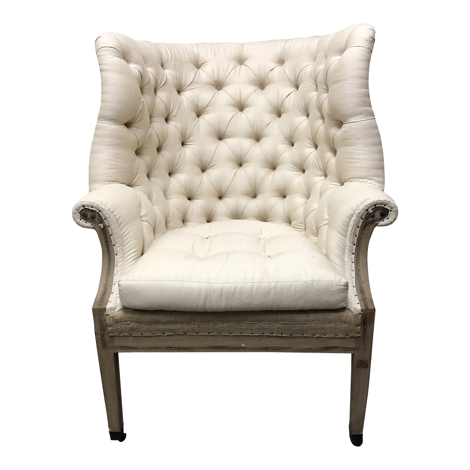 Restoration Hardware Deconstructed 19th C English Wingback Chair