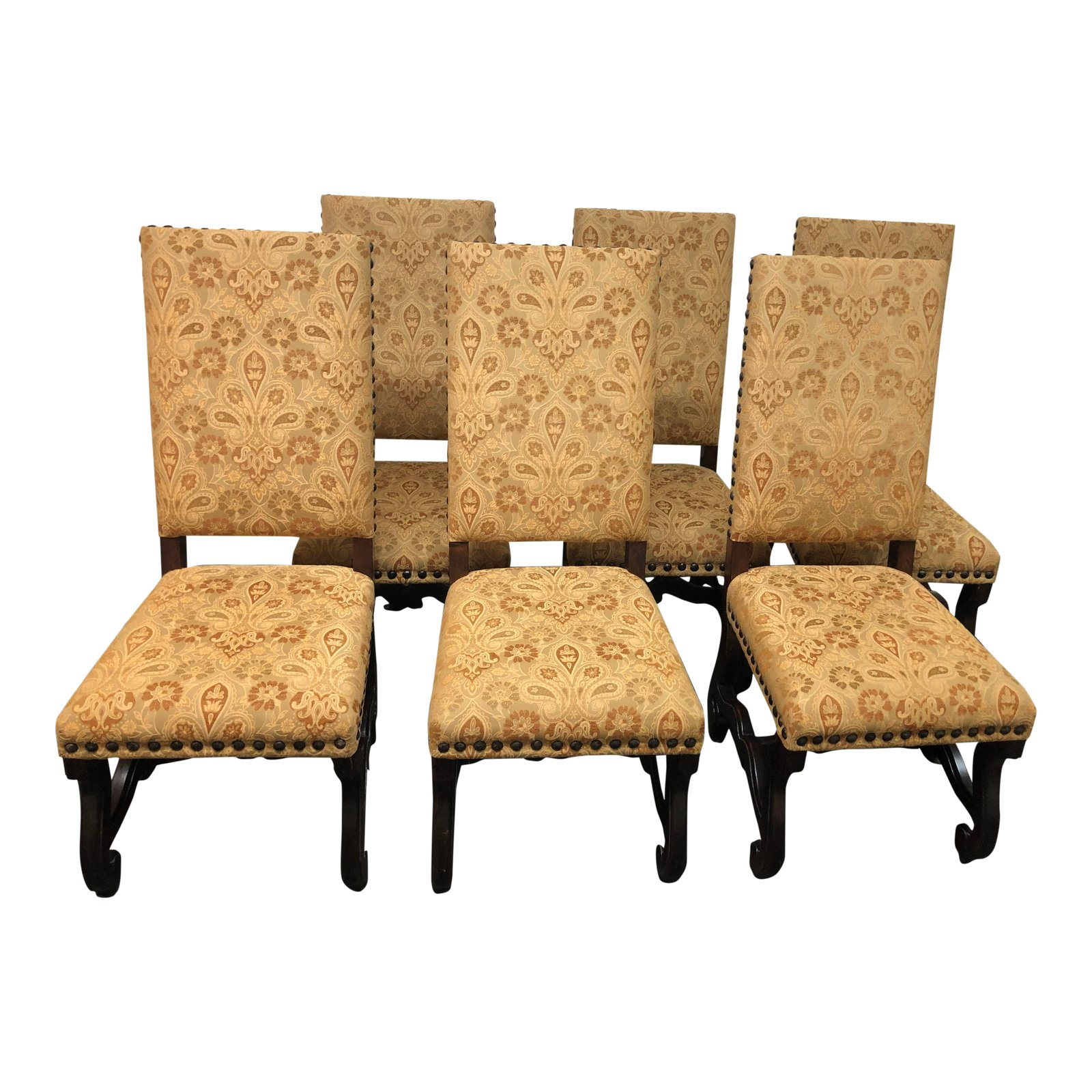 Spanish Style Dining Room Furniture: Spanish Revival Dining Room Chairs, Set Of Six