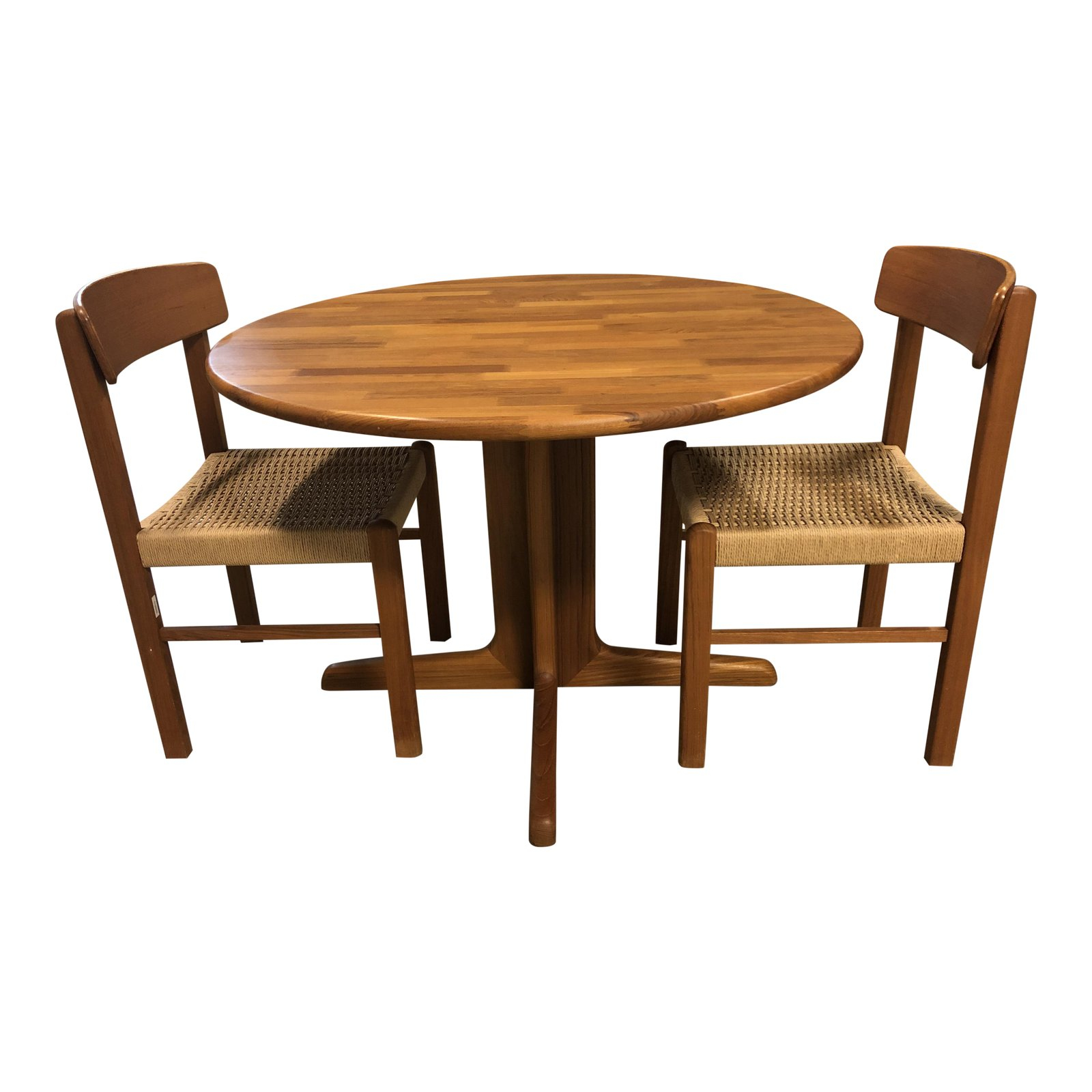 Sun Cabinet Wood Round Table Two Side Chairs Original Price 1 377