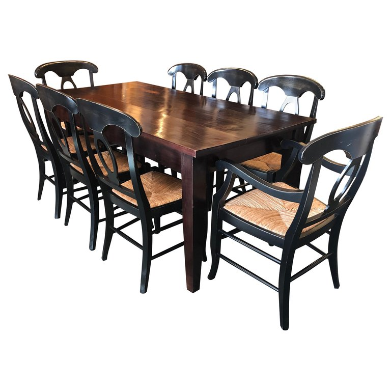 Napoleon Rush Seat Dining Chairs by Pottery Barn, Set of 8 ...