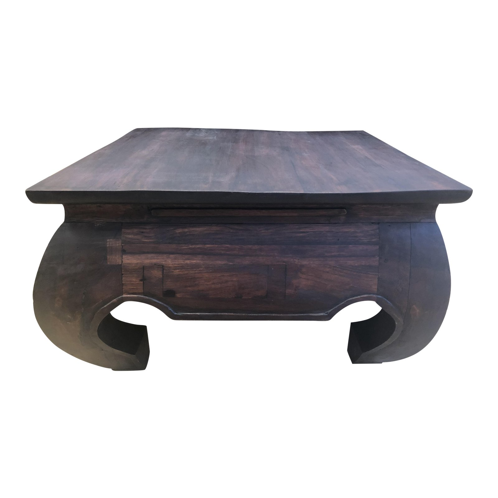 Custom Asian Inspired Oak Cherry Wood Coffee Table