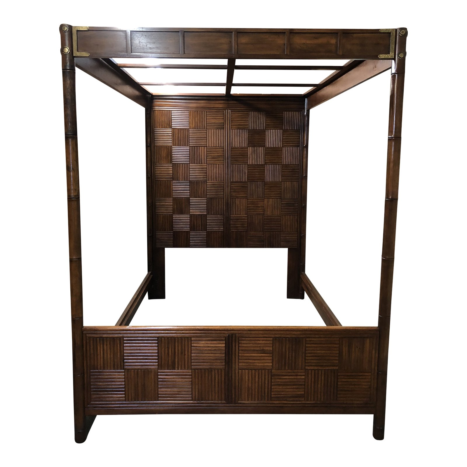 Pan Asian Canopy Bed Frame By Henredon