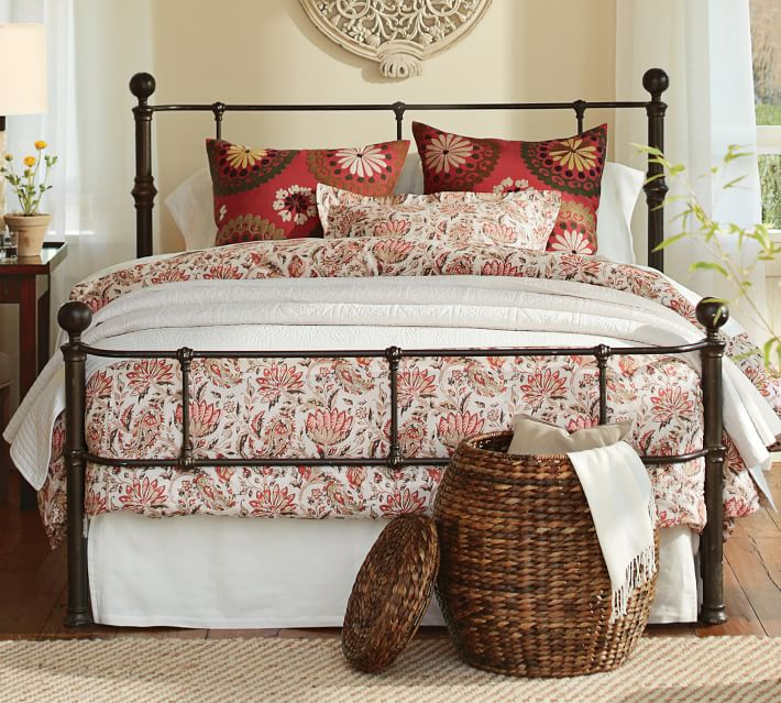 Pottery Barn Queen Size Mendocino Bed Frame Design Plus
