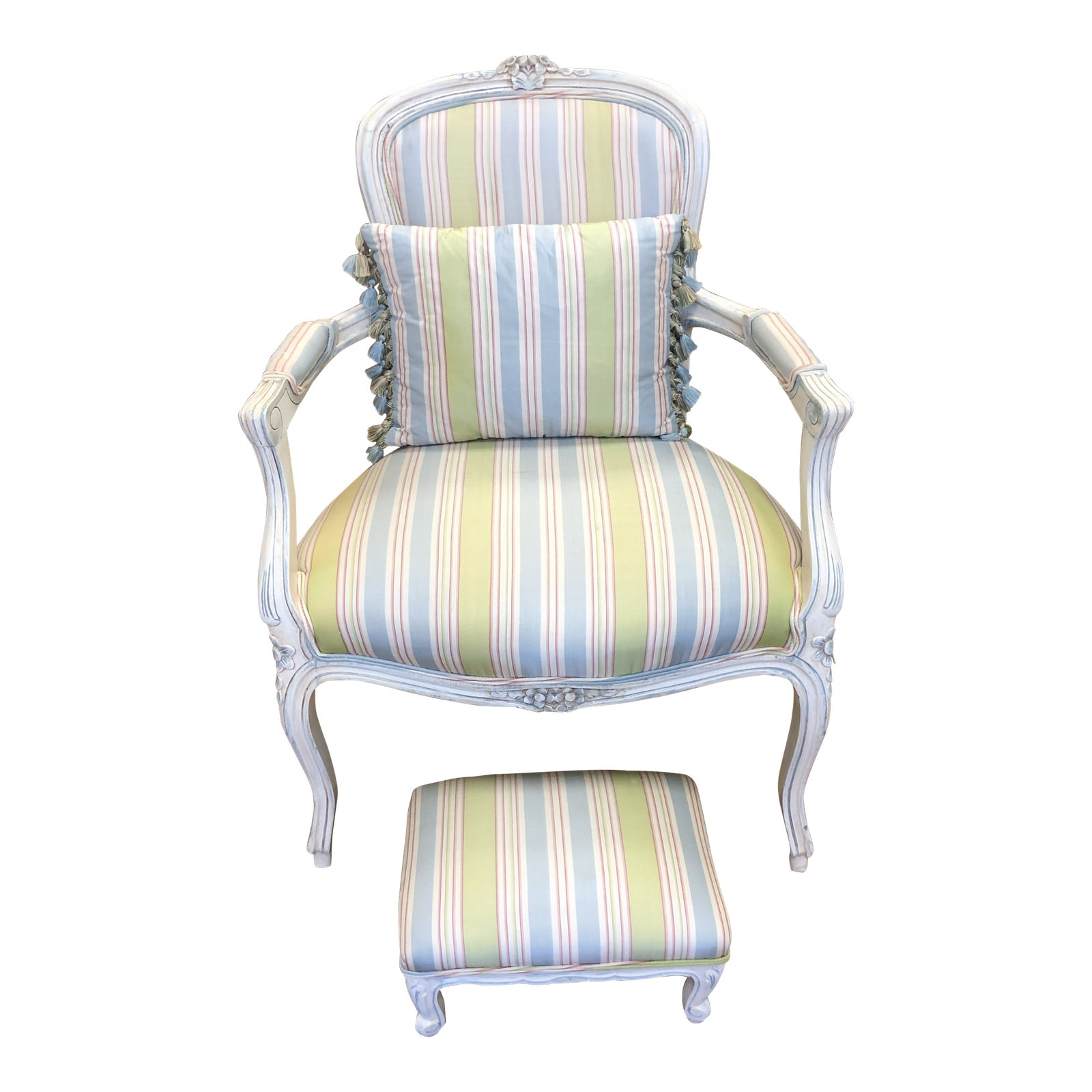 French Provincial Chair >> French Provincial Arm Chair Foot Stool Design Plus Gallery
