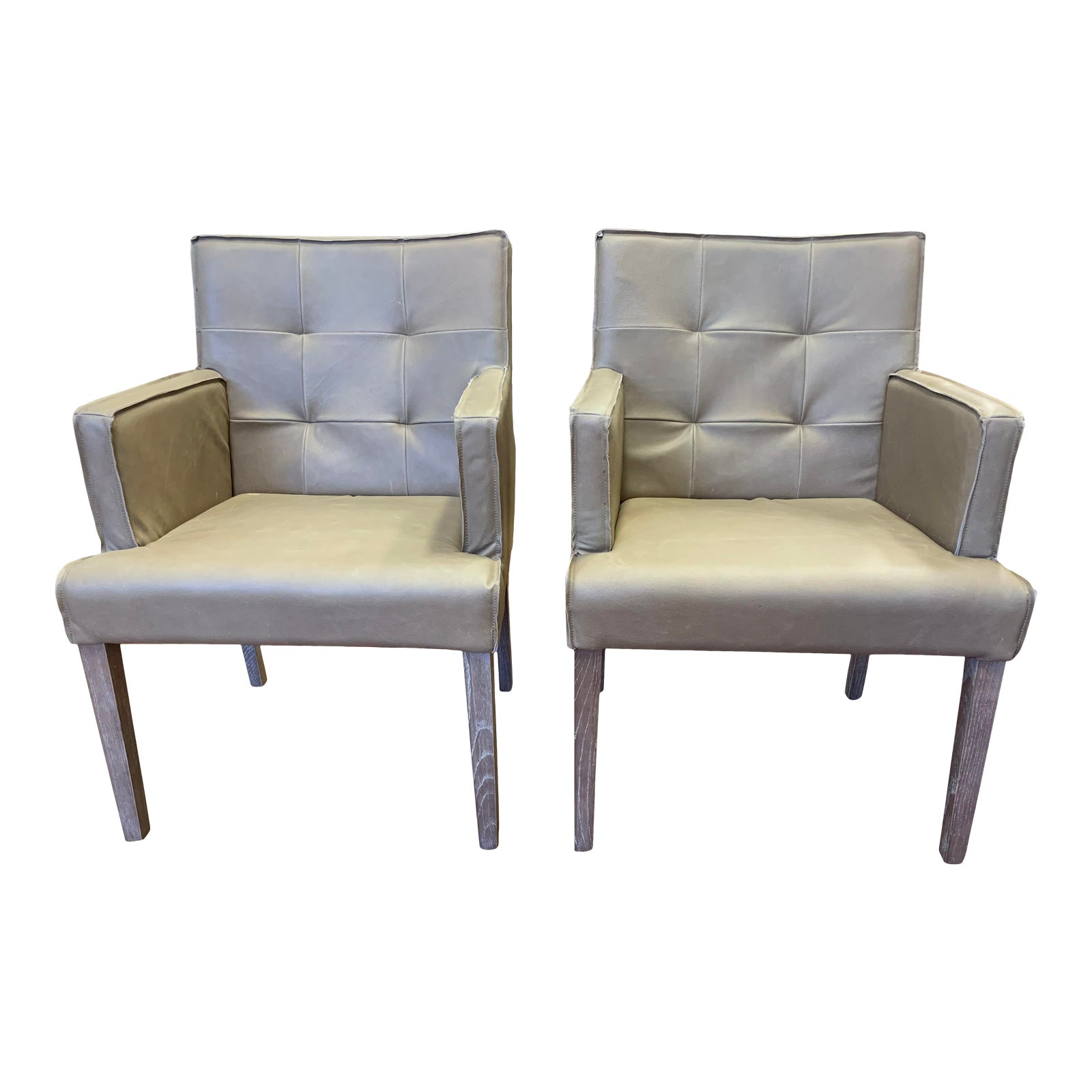 Furniture Classics Elroy Leather Arm Chairs A Pair Design Plus Gallery