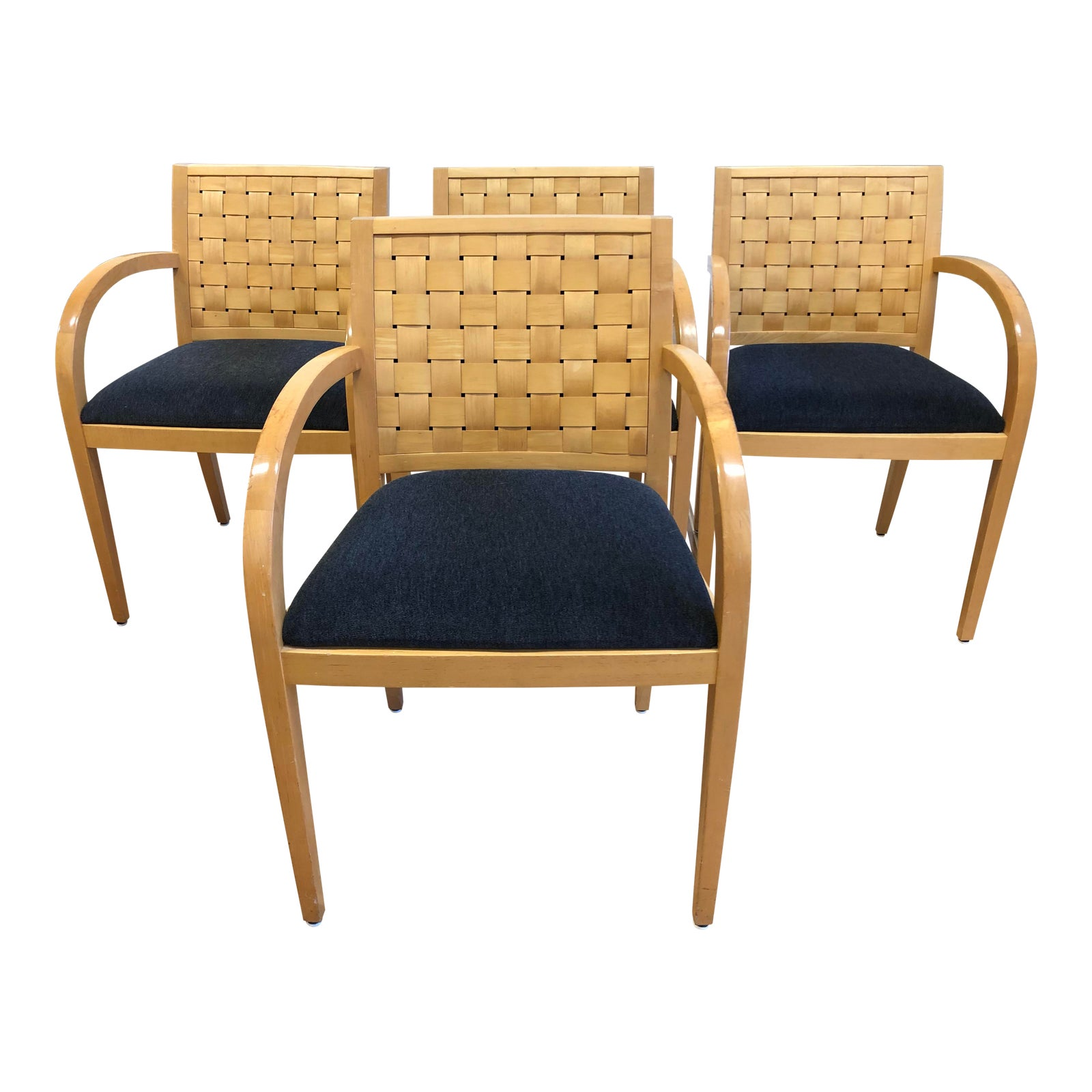 Geiger Furniture Woven Arm Chairs Set Of Four Design Plus Gallery
