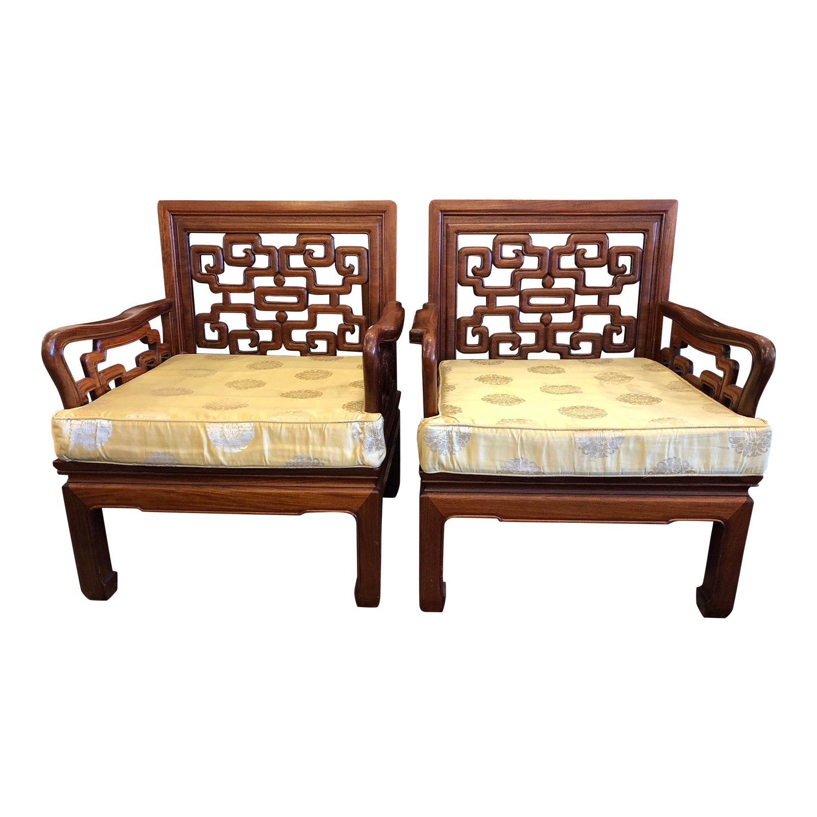 Asian Rosewood Chairs A Pair Design Plus Gallery