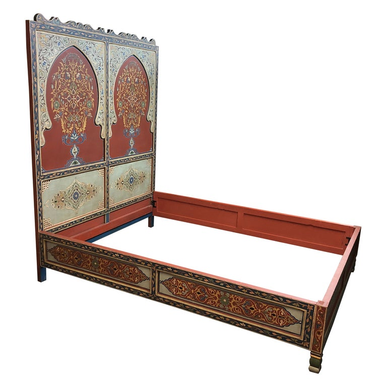 on sale 15cf4 330f0 Custom Monumental Moroccan Queen Bed Frame + Night Stands
