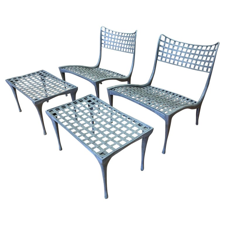 Wondrous Sol Y Luna Aluminum Outdoor Lounge Chairs Ottomans By Evergreenethics Interior Chair Design Evergreenethicsorg