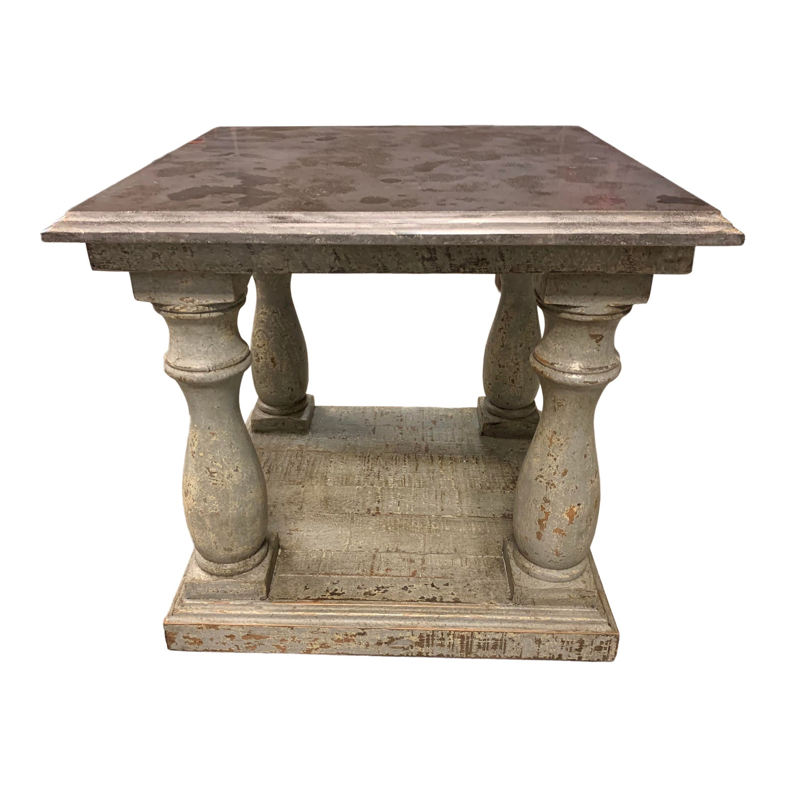 Dovetail Furniture Palermo Distressed Blue Side Table Original Price 1 190 Design Plus Gallery