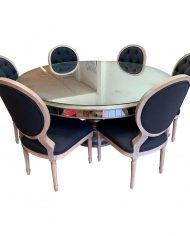 john-richard-collection-lisandra-antiqued-mirrored-round-dining-table-six-four-hands-stella-chairs-4895