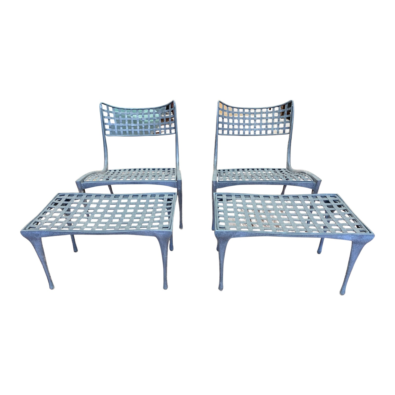 Super Sol Y Luna Aluminum Outdoor Lounge Chairs Ottomans By Evergreenethics Interior Chair Design Evergreenethicsorg