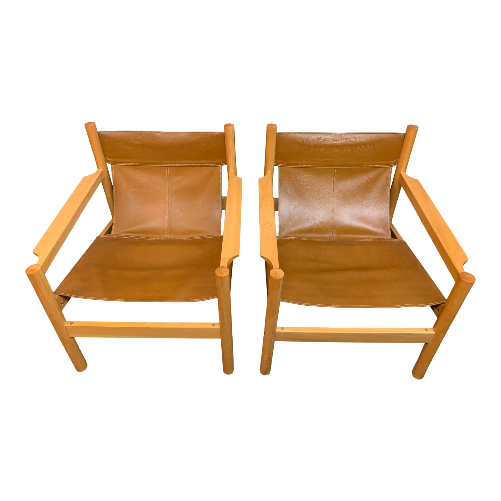 Swell Michel Arnoult Leather Sling Chairs A Pair Original Price 5 200 Uwap Interior Chair Design Uwaporg