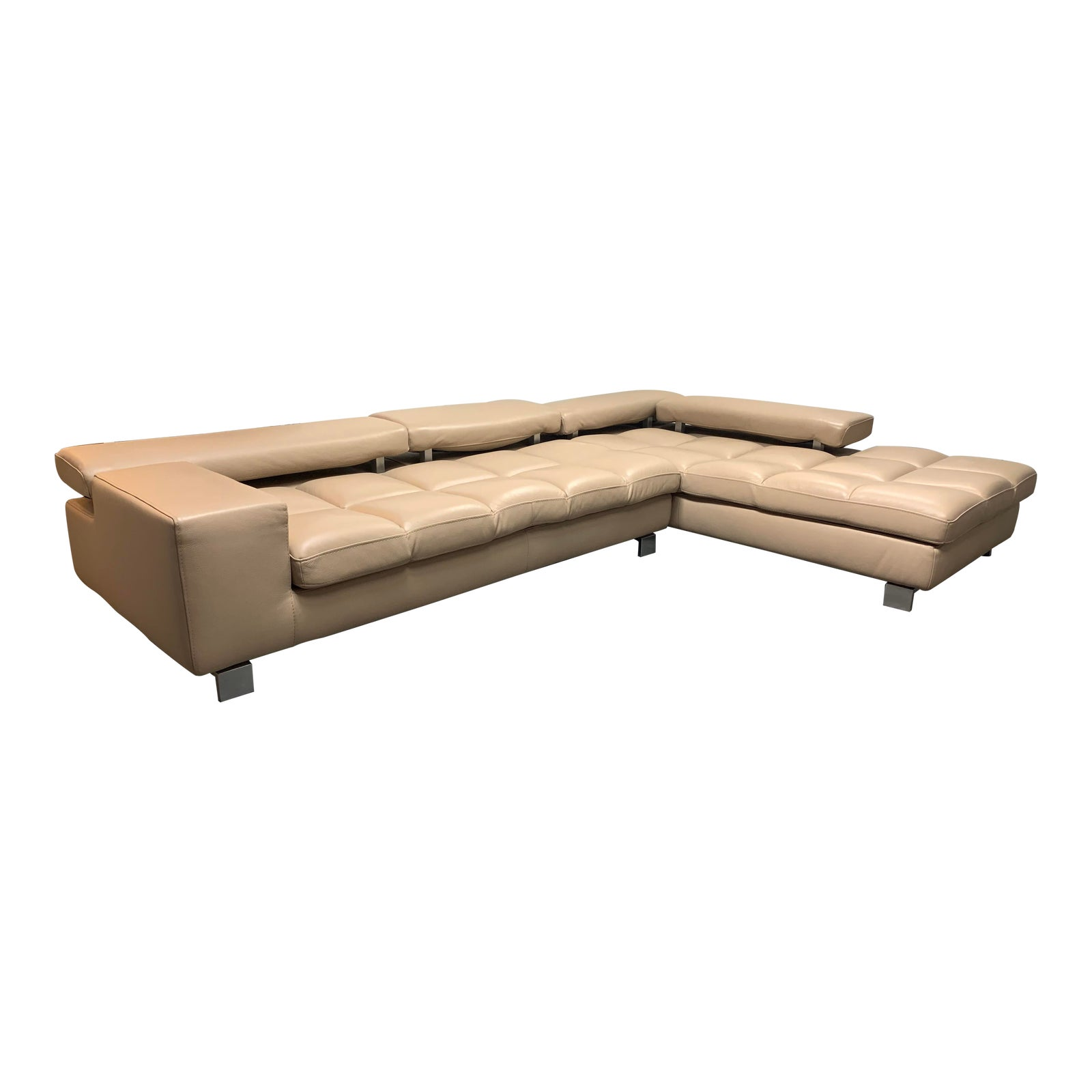 Sensational Roche Bobois Two Piece Leather Milano Sectional Original Ocoug Best Dining Table And Chair Ideas Images Ocougorg