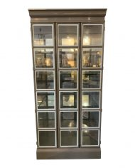 custom-large-gray-lacquered-lighted-display-cabinet-9666