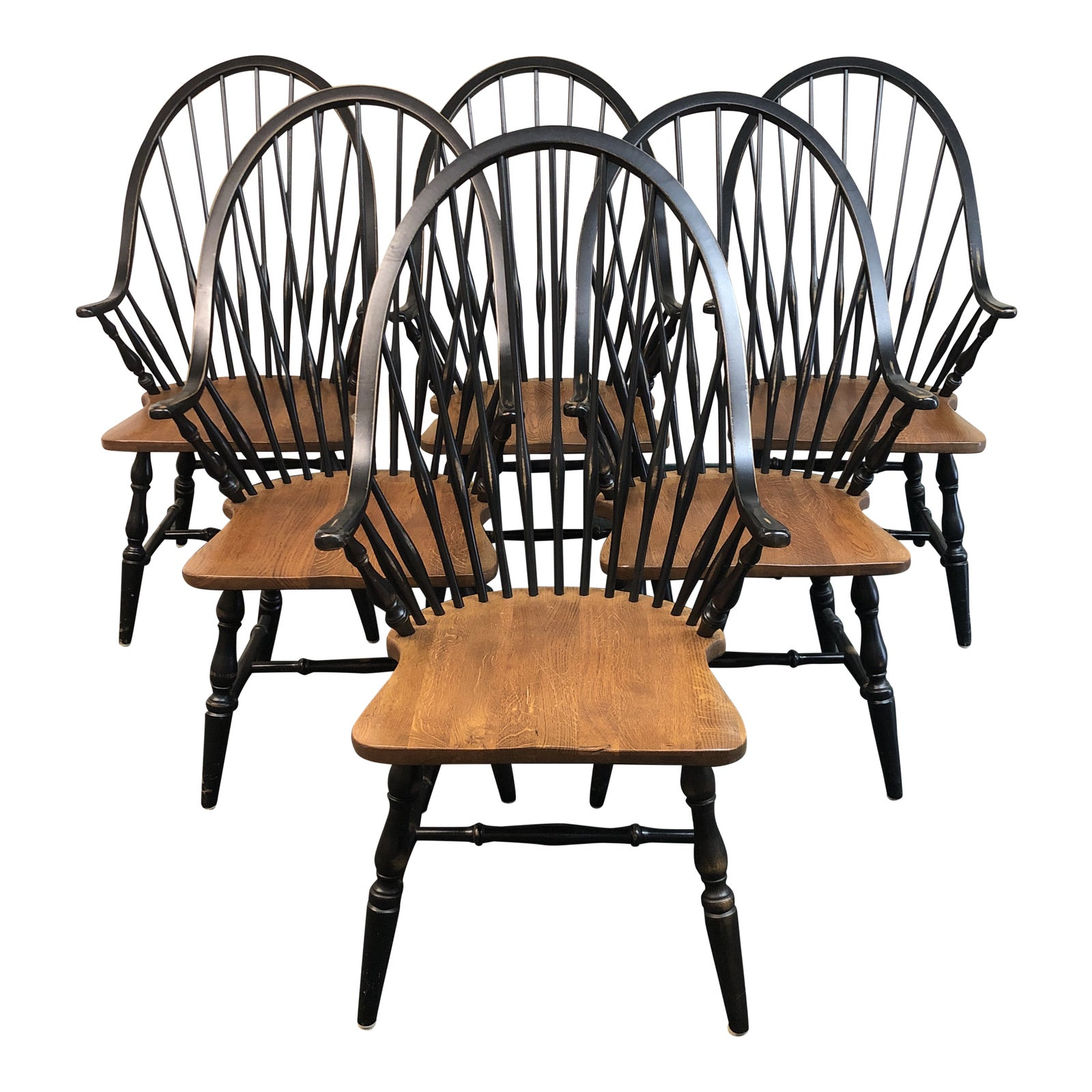 Picture of: Intercon Black Windsor Dining Chairs Set Of Six Design Plus Gallery