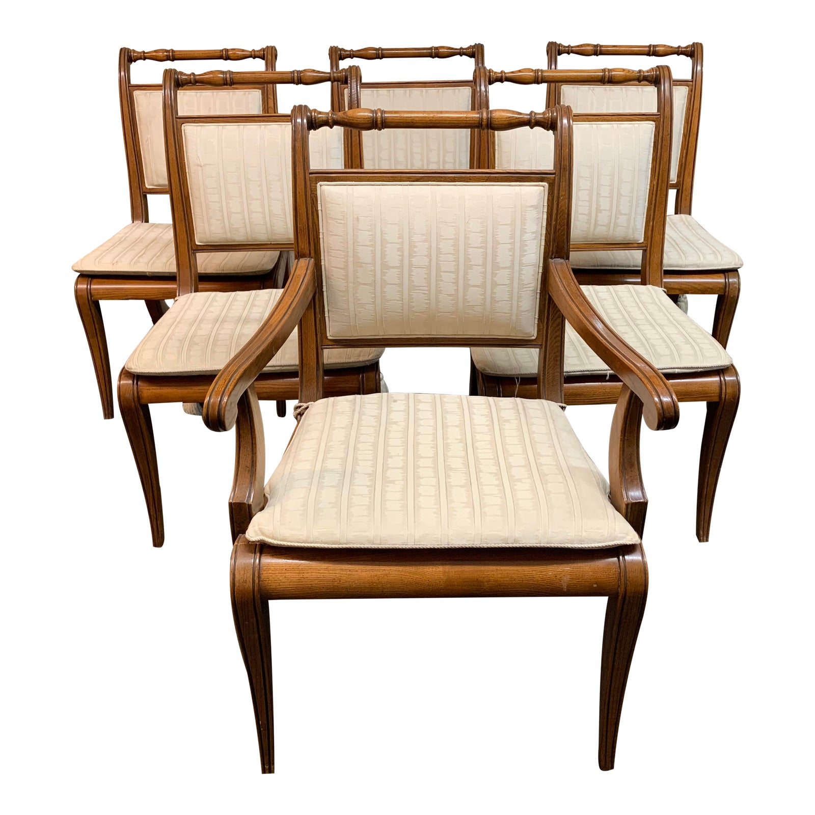 Astounding Henredon Cane Upholstered Sleigh Back Room Chairs Set Of Six Ocoug Best Dining Table And Chair Ideas Images Ocougorg