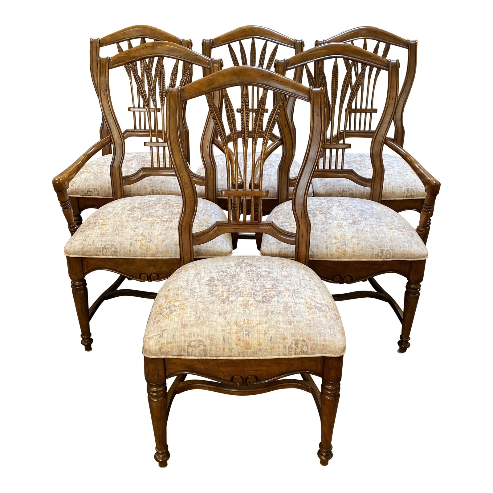 Drexel Heritage Wheat Back Chairs Set