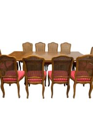 vintage-french-style-extension-table-10-caned-chairs-0543