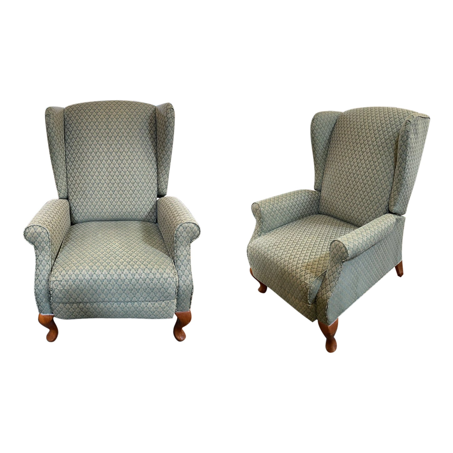Lazy Boy Wingback Reclining Chairs A Pair Design Plus Gallery