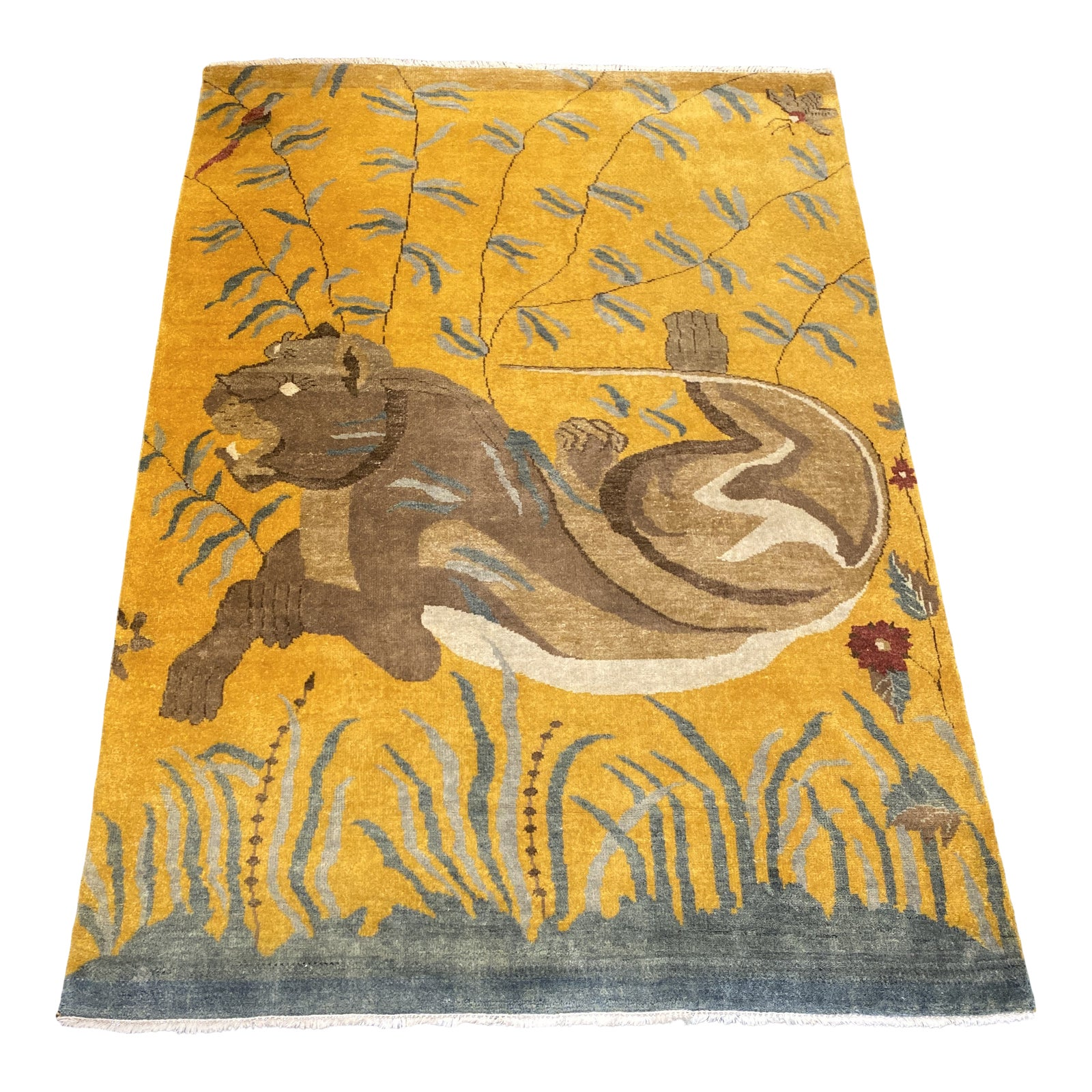 Tufenkian Hand Knotted Lioness Wool Mohair Area Rug 5 6 7 10 Design Plus Gallery
