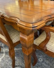 century-furniture-gathering-extension-table-six-ladderback-dining-chairs-set-0554